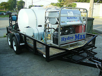 Hot Water Pressure Washer Trailer Mounted-8gpm,3600psi