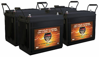 620AH SOLAR BATTERY BANK: 4 VMAX 12V SLR155 AGM Deep Cycle for RENOGY PANELS