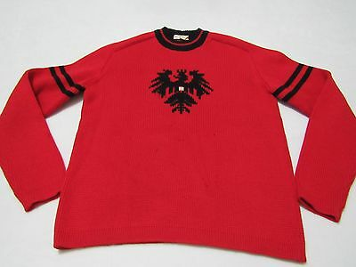 Vintage Austria Coat Of Arms Crew Sweater Size Small Made In Italy