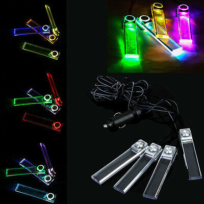 12V 4 in 1 Car Charge LED Interior Decoration Floor Colors Decorative Light Lamp