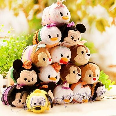 "New Plush Doll Mini Toy Tsum 3.5"" The Little Mermaid Toy Story SuperHero Series"