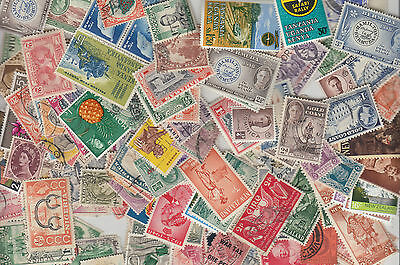 BRITISH COMMONWEALTH Collection MINT/USED Q. Vic-QE11 X100 Stamps Every Lot Diff