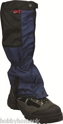 Highlander Mountian Gaiters Navy / Black Two Tone Boots Camping Hiking Shooting