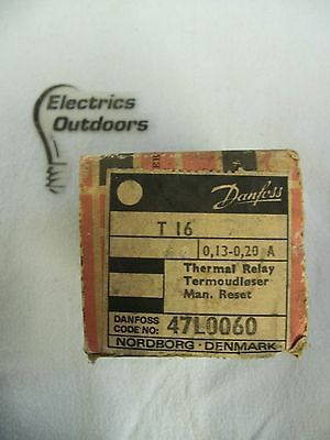 Danfoss 0.13 - 0.20 Amp Thermal Relay T16 47L0060