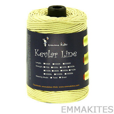 FREE POSTAGE 500ft 1500lbs Braided Kevlar Line / Rope For Kite Camping Rocketry