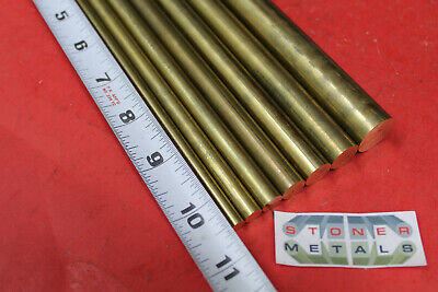 """4 Each K+S8161 K/&S Engineering Solid Brass Rod 3//64/"""" Carded"""