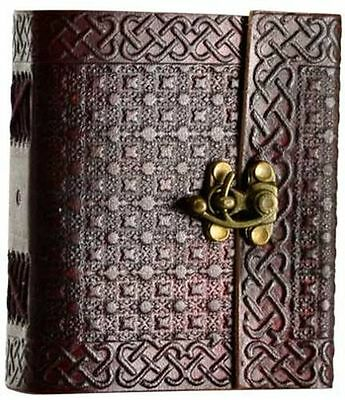 Celtic Knot Leather Journal with Latch Blank Book Dream Diary Handmade