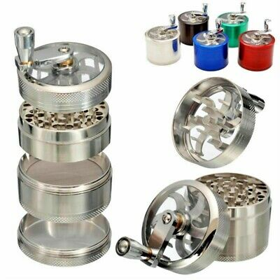 New 50mm 4 Part Herb Mill Grinder Magnetic Metal Diamond Teeth Grinder UK stock