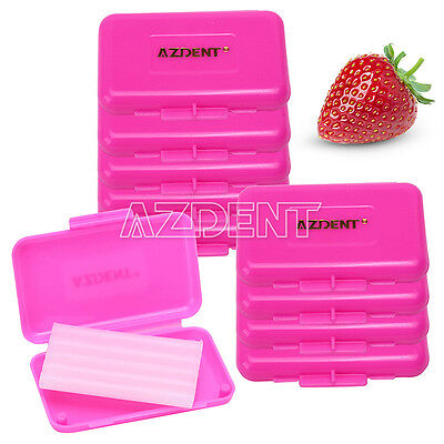 10 X Orthodontic Dental Wax Pink-Strawberry Scent for Braces Gum Irritation