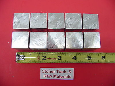 "10 Pieces 1"" X 1"" ALUMINUM 6061 SQUARE BAR 3"" long New T6 Flat Mill Stock 1.00"