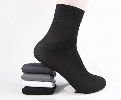 10Pair Hot Sale Men Short Bamboo Fiber Socks Stockings Middle Socks