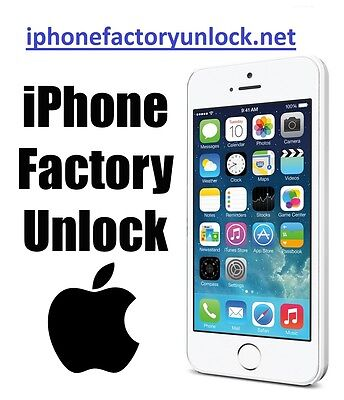 Factory Unlock Code Service AT&T USA Apple iPhone 3G 3GS 4 4S 5S 6 6+  Permanent