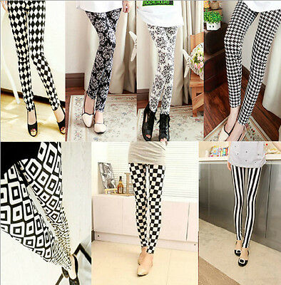 New Fashion Womens Wild Casual Bottoming Printing multi-pattern Leggings Pants