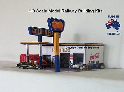 HO Scale Golden Fleece Petrol Station Garage Model Railway Building Kit - GFS2