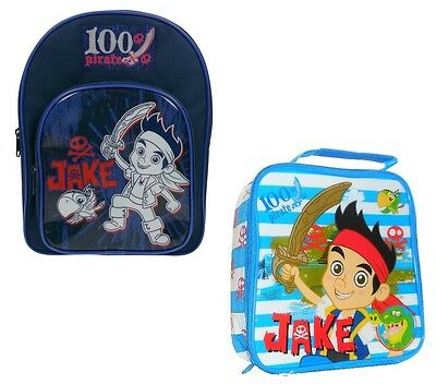 Jake and the Neverland Pirates 100% Sports Backpack and Lunch Bag School Set