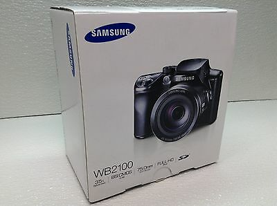 Samsung WB2100 16.3MP CMOS Digital Camera 35x Optical Zoom EC-WB2100BPBUS READ!