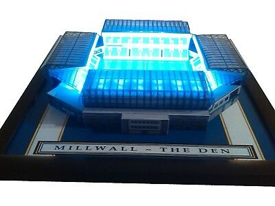 Millwall The Den  Model Stadium With Working Floodlights