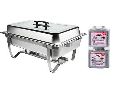 New Stainless FOLDING CHAFING  Dish Set Lowest PRICE! CHAFER WARMER & Rebate