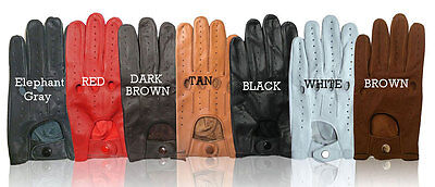 New Real Leather Mens Driving Gloves