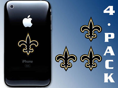 4-Pack 1.5 inch Fleur De Lis Cell Phone Stickers - logo small new orleans saints