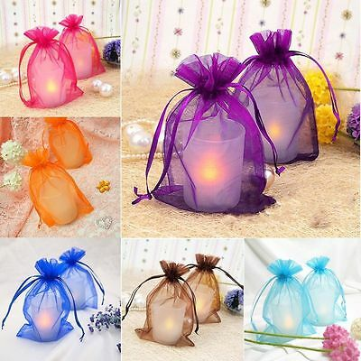 Wholesale 30/100pcs Organza Jewelry Candy Gift Packing Pouch Wedding Favor Bags