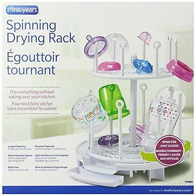 The First Years Spinning Drying Rack, White New