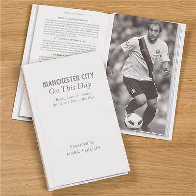 Personalised Manchester City Football Book On This Day History Memorabilia Gift