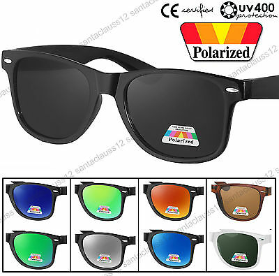 Quality Rectangular Shape Polarized Sunglasses Retro Vintage UV400 Womens Mens