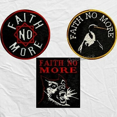Set Faith No More Embroidered Patches Rock Band Logo King for a Day Angel Dust