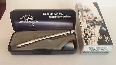 Fisher Space Pen - #BGC Chrome Grip Bullet BRAND NEW with Case