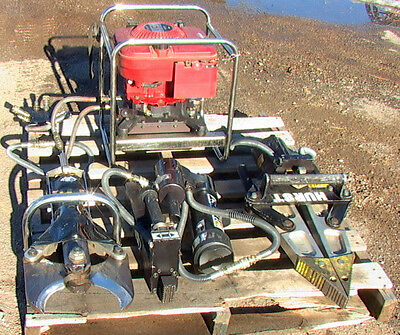 Complete 10 piece HURST JAWS OF LIFE RESCUE SYSTEM power, jaws cutter rams hoses