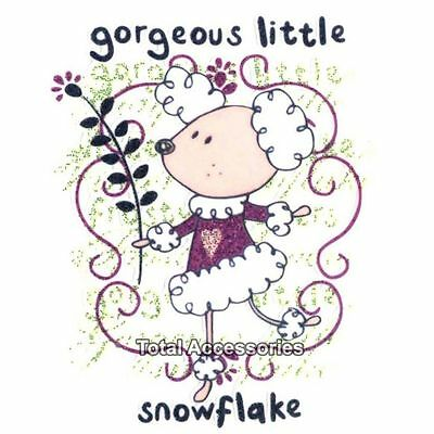 Gorgeous Little Snowflake Sheep - DIY Iron On Glitter T-Shirt Heat Transfer -NEW