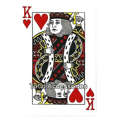 KING OF HEARTS - DIY Iron On T-Shirt Heat Transfer -NEW