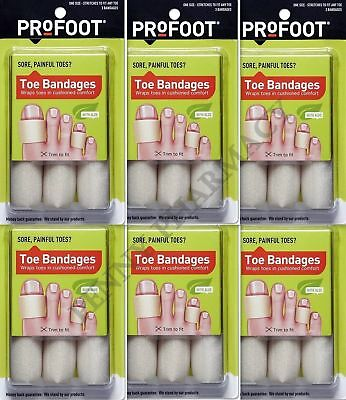 ProFoot Toe Bandages One Size 3 Each - ( 6 Pack )***
