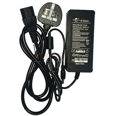 AC110-240V To DC 12V 5A Power Supply Adapter Charger UK Plug For LCD Monitor