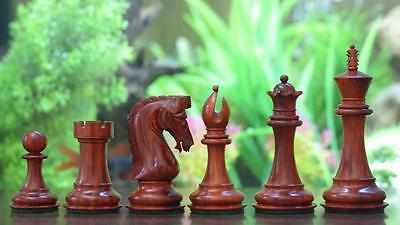 """Staunton Series Wooden Triple Weighted Chess Pieces in Bud Rose&Box Wood-4.5"""""""
