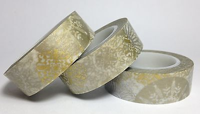 Washi Tape Gold & Silver Mandala 15Mm X 10Mtr Scrap Planner Craft Wrap Mail Art