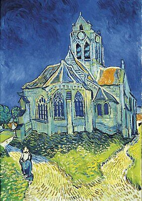 Van Gogh - The Church A4 size (21x29.7cm)  QUALITY Canvas Print Poster Unframed
