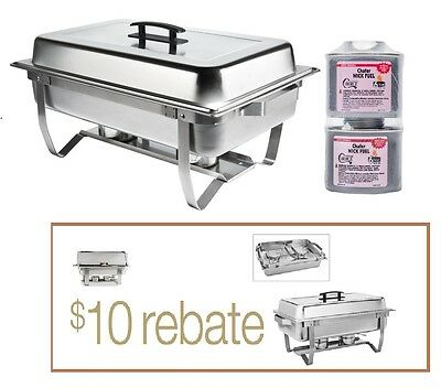 FREE SHIP New Stainless FOLDING CHAFING  Dish Set CHAFER WARMER CATERING 8 Qt
