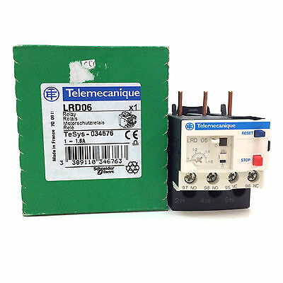 Overload Relay 034676 Telemecanique 1-1.6A LRD06