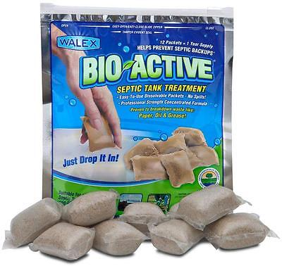 Professional BIO-ACTIVE Septic Tank Care (12 Sachets) 1 Years Supply
