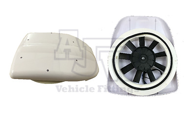 Low Profile WHITE Motorised Vent 12V Van Roof Bus Dog Horse Pet Taxi Vehicle