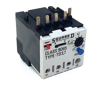 Overload Relay 9065-TD3.7 Square D 9065-TD-3.7