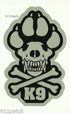 Police Dog K9 Unit Law Enforcement Canine Unit Dogs of War Decal Sticker Grey