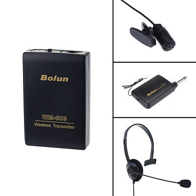 Professional Remote Wireless Microphone Headset Stage MIC Receiver Transmitter