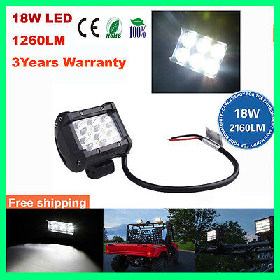 New 4 inch 18W Cree LED Work Light Bar Driving Lamp Flood Truck Offroad UTE 4WD
