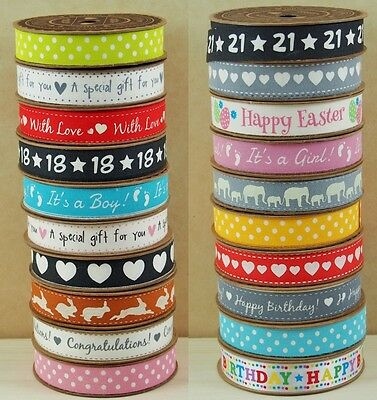 100% Cotton Fabric Ribbon Vintage Printed Decorative Lace Trim Tape Gift Rolls