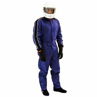 Pyrotect Sportsman 1-Layer 2-Piece Auto Racing Fire Suit SFI-1 (Small / Blue)