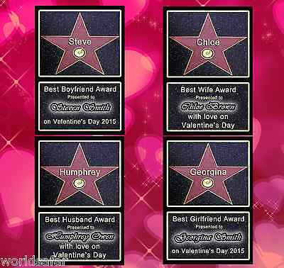 Hollywood Star Walk Of Fame - Valentines Personalised Gift For Him For Her