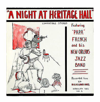 """Papa French & His New Orleans Jazz Band - A Night At Heritage Hall  - 12"""" Vinyl"""